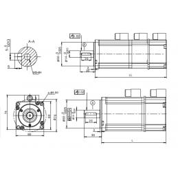 Pack Servo Motor 600W + Driver digital AC220 + 15 mts de cables